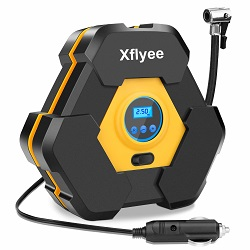 Xflyee Portable Air Compressor Pump, Auto Digital Tire Inflator