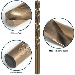 COMOWARE Cobalt Drill Bit Set for Hardened Metal