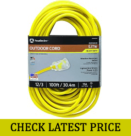 Southwire 25890002 100 Feet Extension Cord